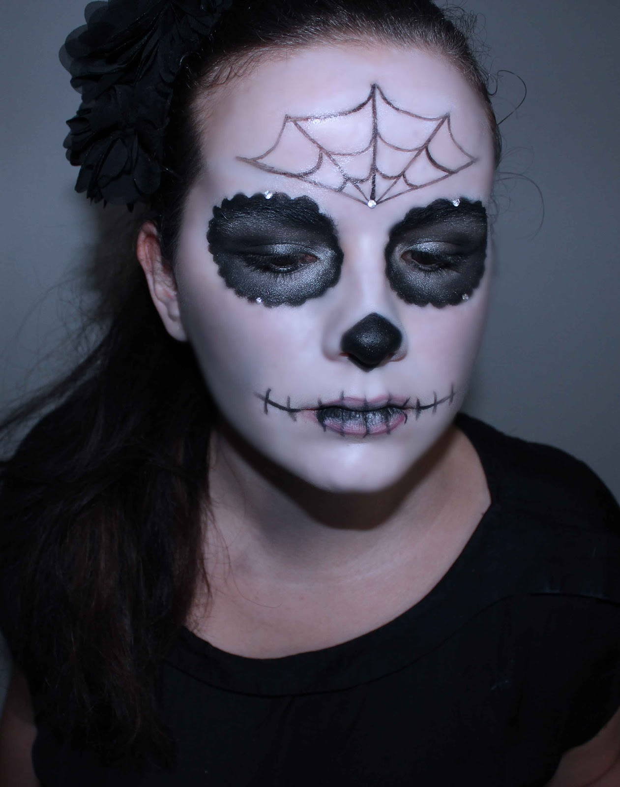 maquillage halloween skull