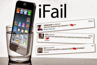 Iklan Palsu iOS 7 Kalis Air Bodohkan Pengguna