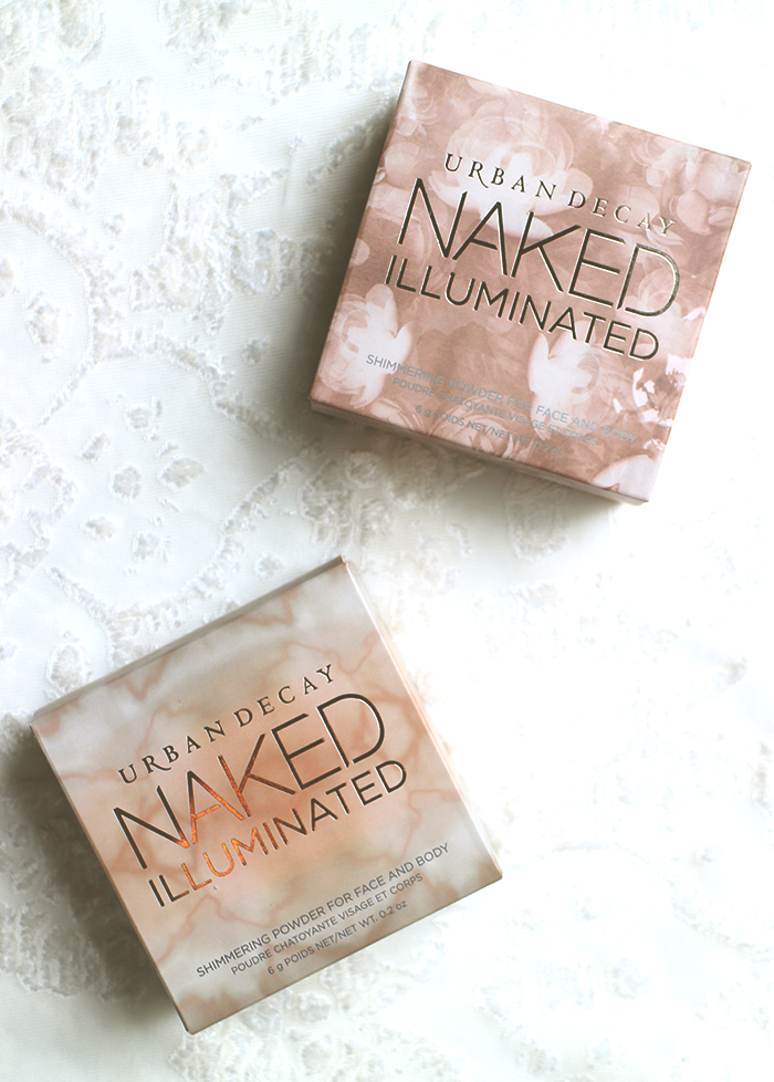 Urban Decay Naked Illuminated Highlighting Powders and Swatches
