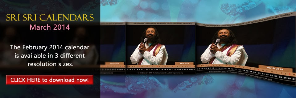 Download Sri Sri Calendar - March 2014