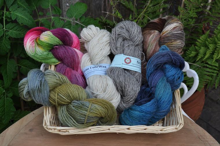 natural & hand dyed lancashire farm wool