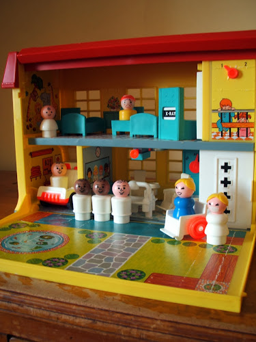 vintage Fisher Price toy hospital 1970s 1980s