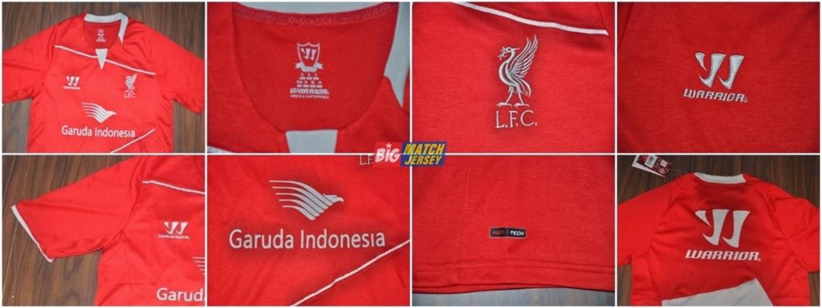 Detail training kit jersey liverpool 2014 garuda indonesia merah