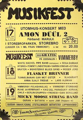 El festival de música progg de Vimmerby contó con la presencia de Anna Själv Tredje en su cartel