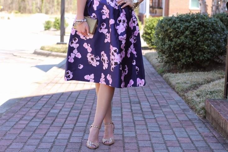 Full Printed SKirt - Valentino Rockstud Sandal Look Alike