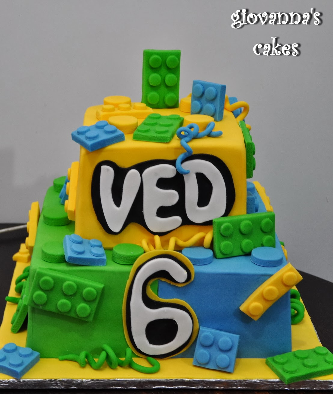Giovannas Cakes Veds Lego Themed Birthday Cake