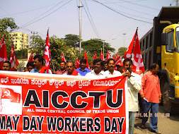 AICCTU May Day Rally 2011 Bangalore