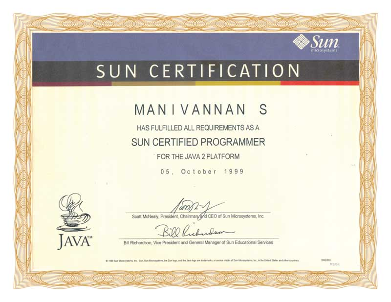 Sample scjp certificates and images onlinebooks sample certificate 3 yadclub Choice Image
