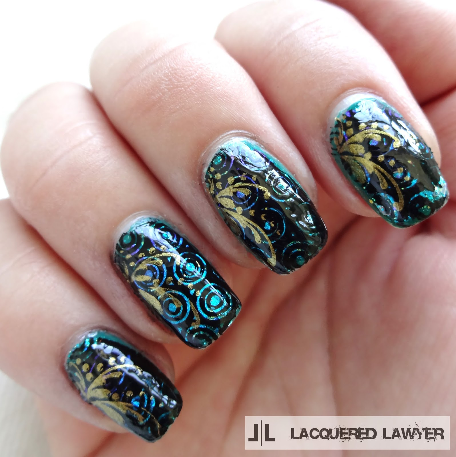 Lacquered Lawyer | Nail Art Blog: Mani Upcycle - Foil Fantasy