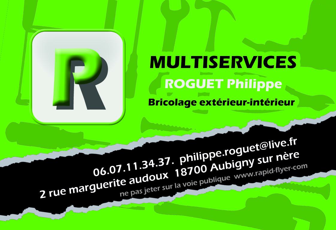 Carte De Visite Flyer Pour L Entreprise Philippe Roguet Multiservices