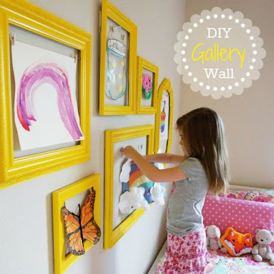 zrób to sam dekoracja ściany pokój dzieicęcy