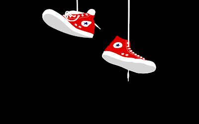 Vector converse shoes