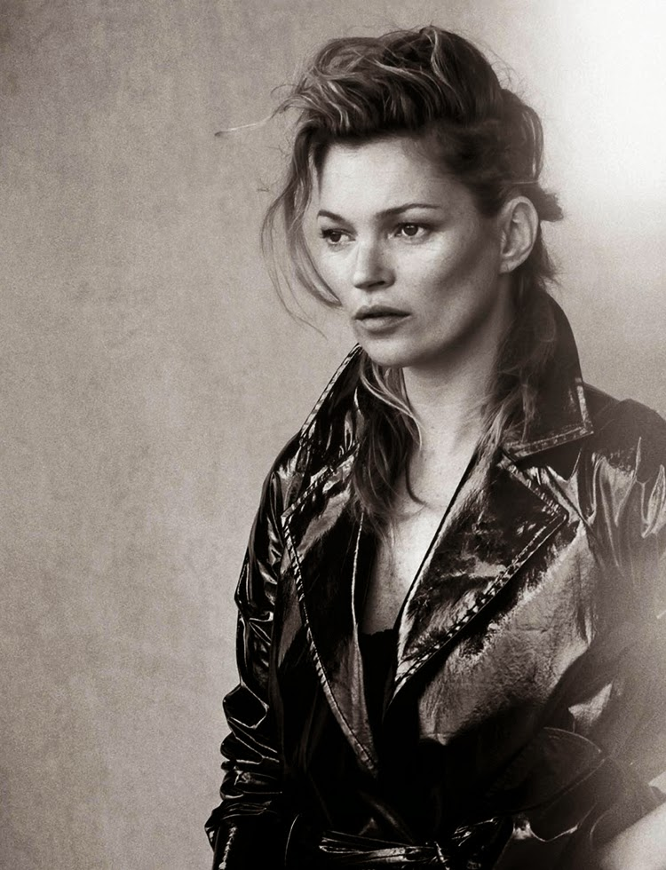 Kate Moss for Vogue Italia January 2015 by Peter Lindbergh