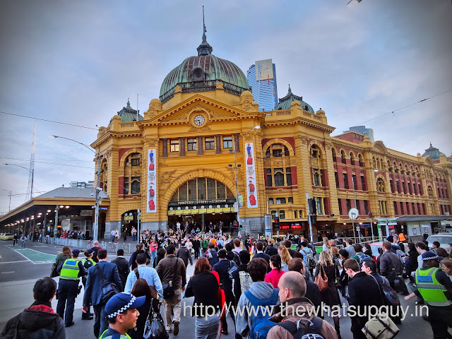 Flinders Street Station at Federation Square Melbourne
