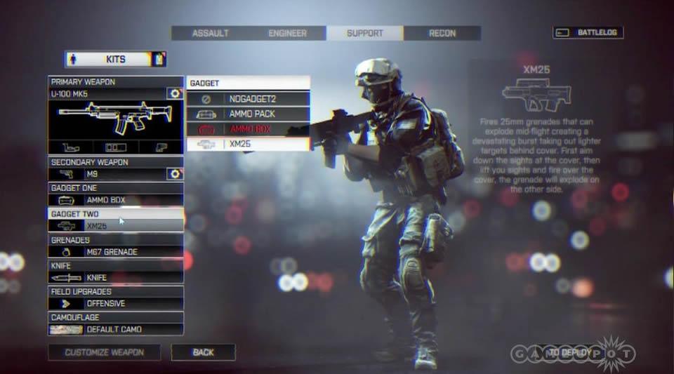 Battlefield 4 - Tudo Sobre Customização de Arma e de Soldado Battlefield-4-menu-options-3