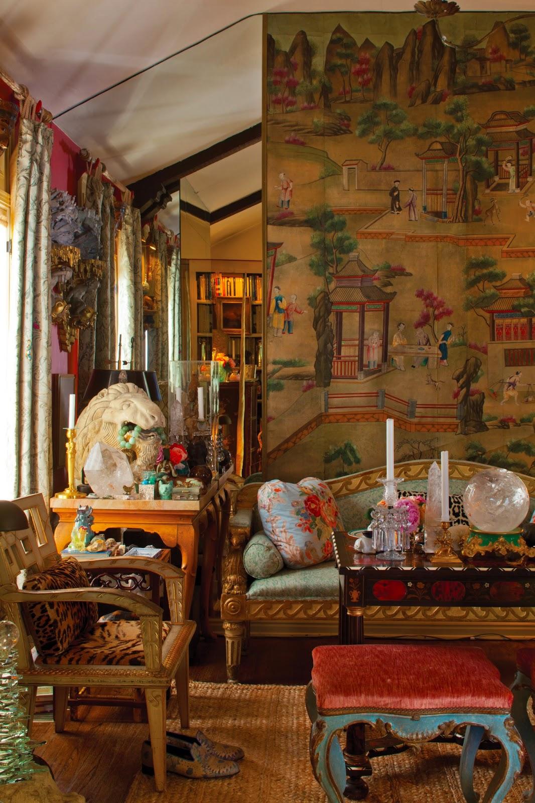 Homebuildlife fortuny interiors luxurious fabrics in real homes - Bohemian interior ...