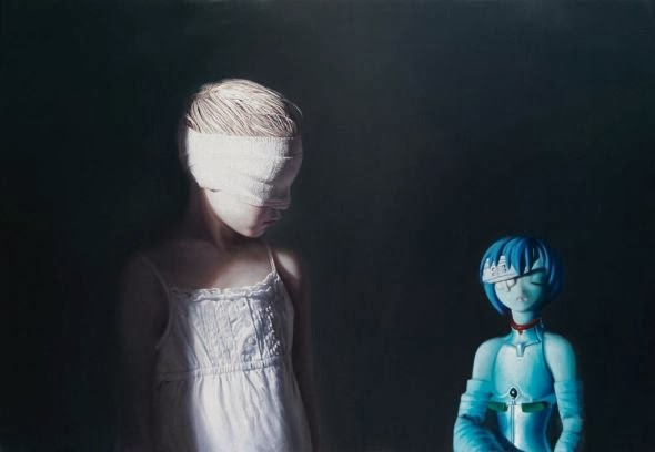 Gottfried Helnwein paintings hyper-realistic little girls injured innocence violence War, violence and animes