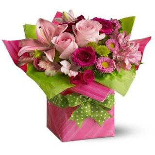 Order the Teleflora Pretty Pink Flower Present