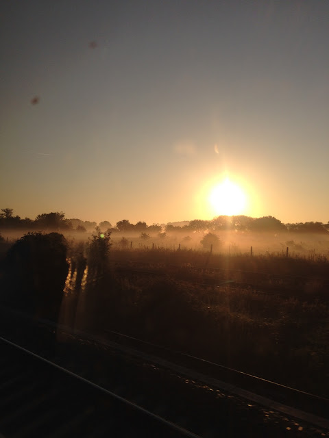 Sunrise somewhere between Newbury and Reading