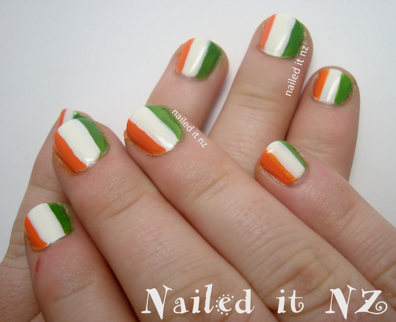 St. Patrick\'s day nail art - five different designs!