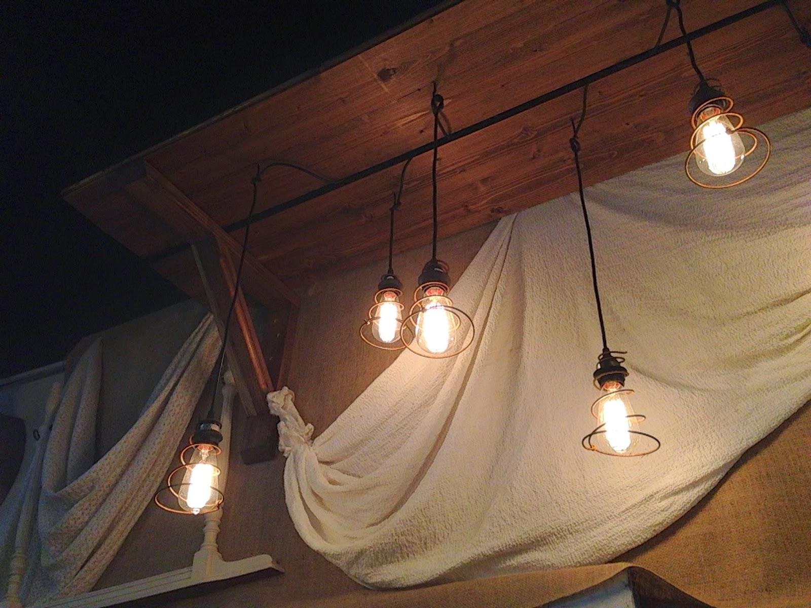 Hanging Pendant Lights Vintage Bed Springs