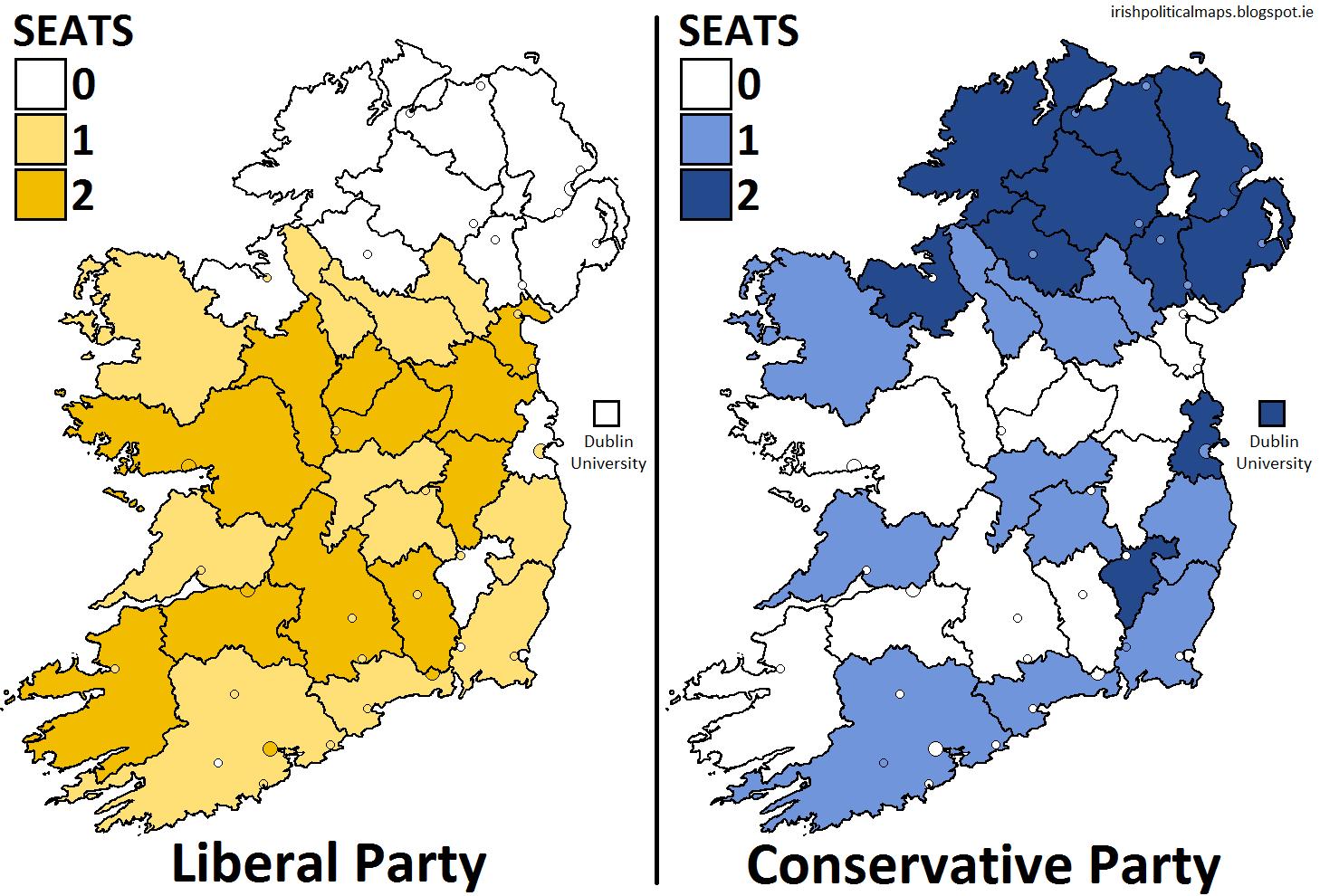 irish political maps uk general election 1865 ireland