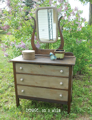 KarlyesAntiqueDresser7 Guest Post: Antique Dresser Refinish from Denise…On a Whim