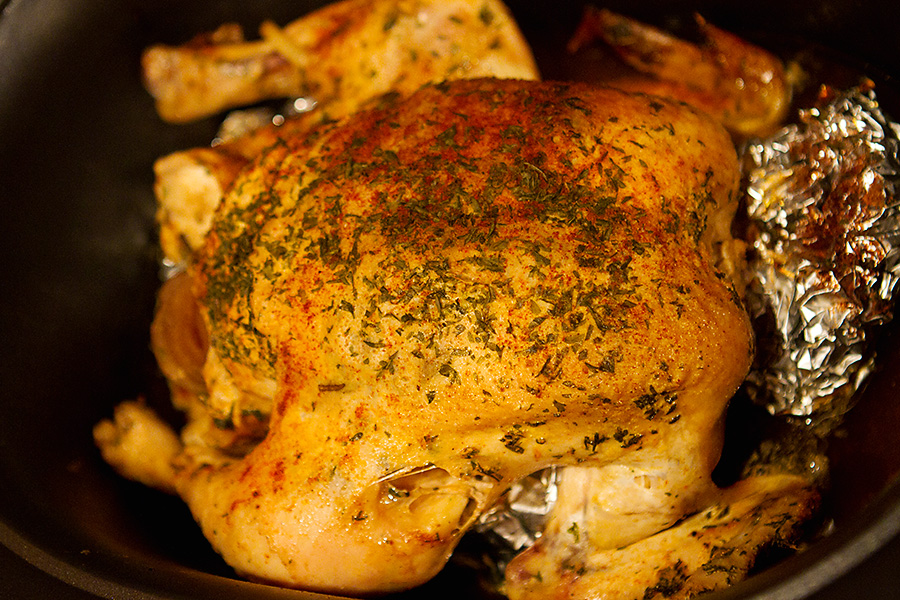 "PrepAhead and Dine In: Slow Cooker Whole ""Roasted"" Chicken"