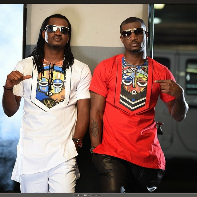 Psquare, Paul and Peter Okoye Pose In Matching Outfits – Photos