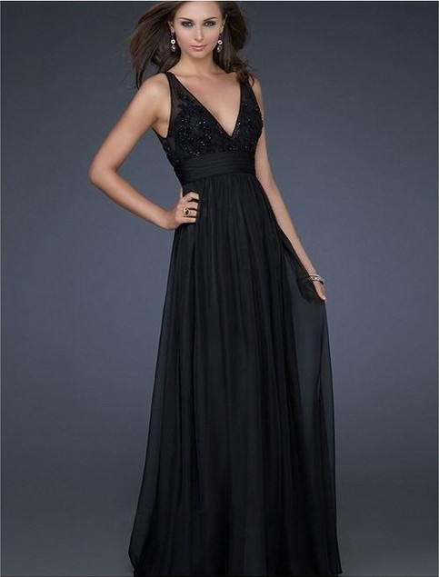 black evening dress