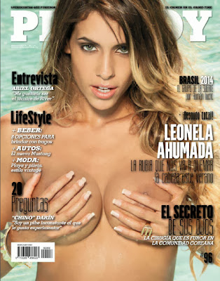 Leonela Ahumada is a blonde on fire in Playboy Argentina Diciembere 2013