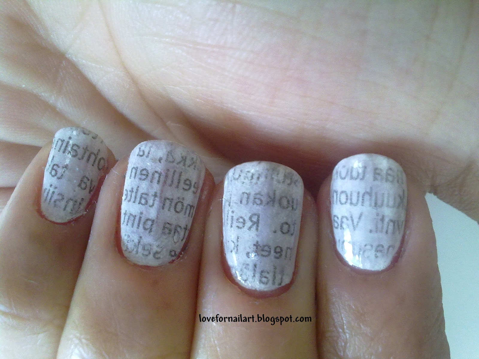 Love For Nail Art: Newspaper Nails