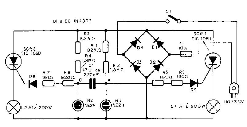 Circuito Eletronica : Eletrônica campo elétrico pisca para montar