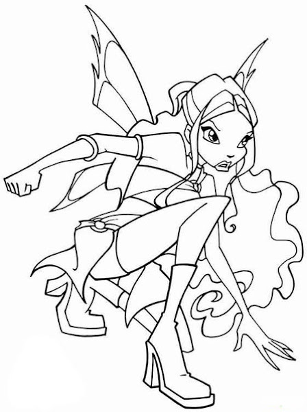 Winx Club Roxy Coloring Pages To Print