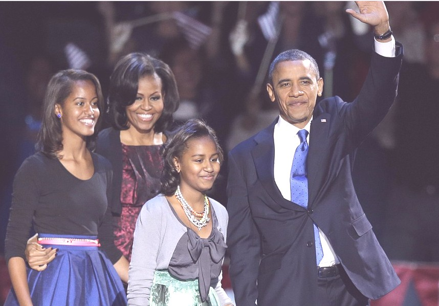 Barack Obama daughters Malia Sasha pics