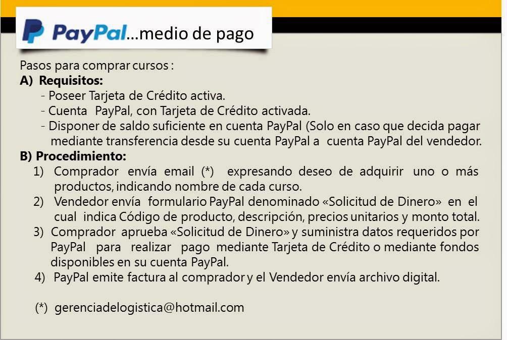 Comprar un curso es fácil y seguro a través de PayPal