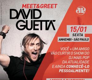 Promoção Encontro com David Guetta em SP