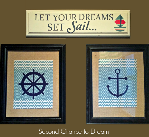 Second Chance to Dream:  Upcycled Nautical Sign #earthday #nautical #upcycle