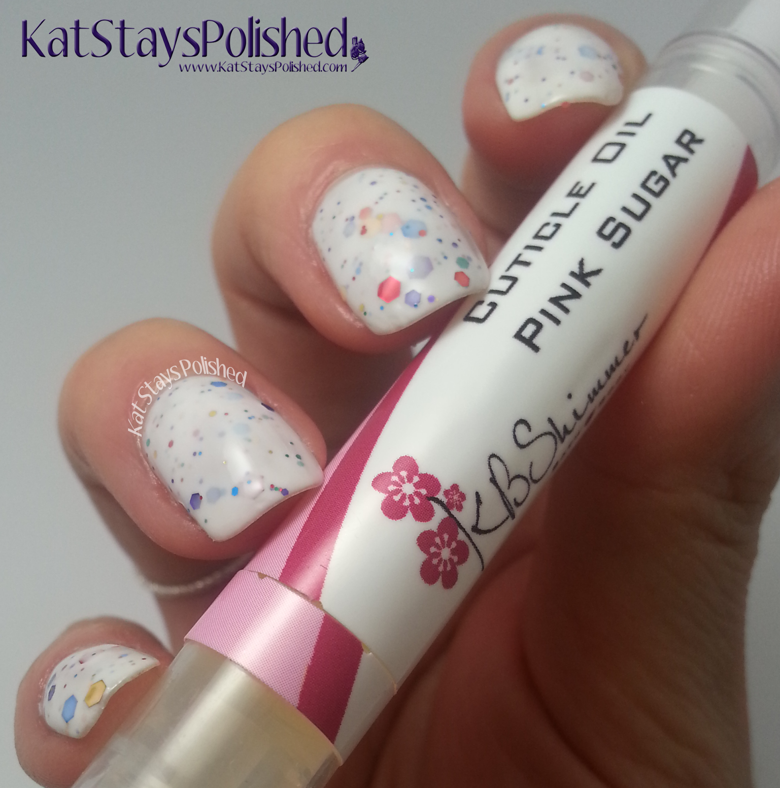 KBShimmer - Pink Sugar Cuticle Oil | Kat Stays Polished