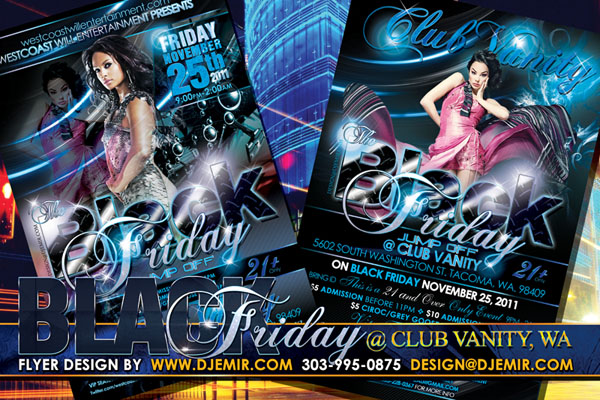 Black Friday Jump Off Flyer Design Club Vanity Tacoma Washington