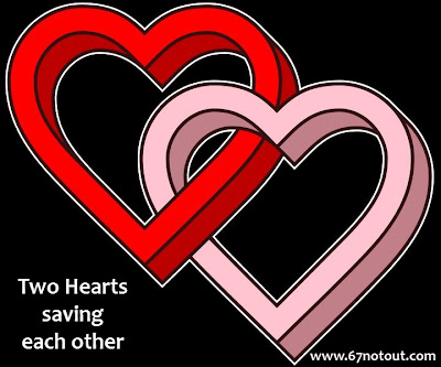 two hearts saving each other