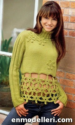 Yeni Moda Bayan Kışlık Kazak Modelleri