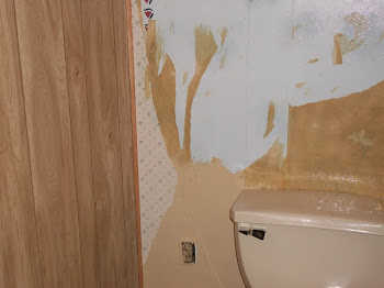 Preparing bathroom wall
