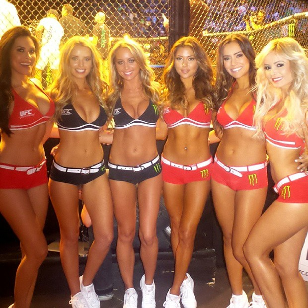 Ring girls UFC 189  with Neymar in Las Vegas, USA