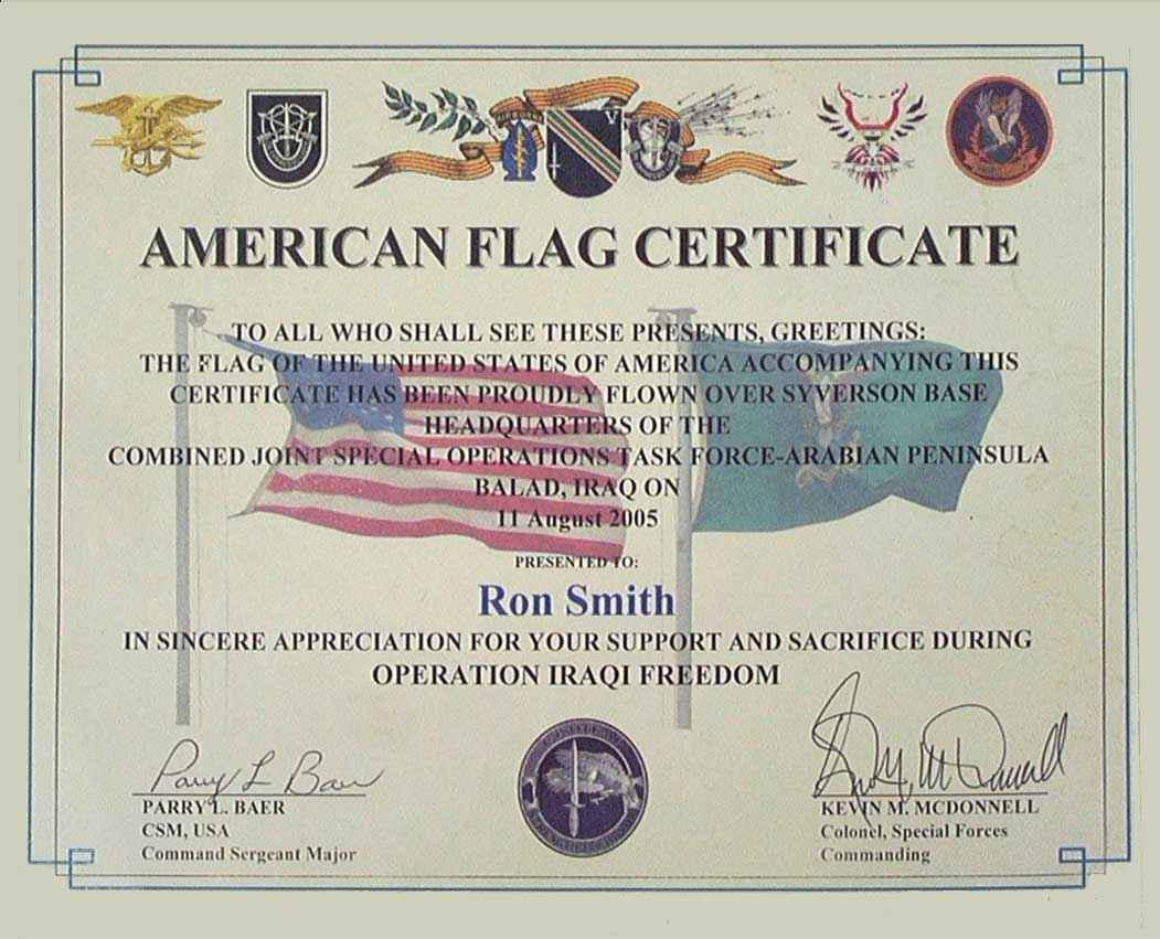 Air force certificate of appreciation templateny traveis usaf smith enterprise smith enterprises special forces flew yadclub Image collections