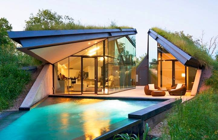 Casa moderna en vegetaci n autoctona arquitectura moderna - Casas arquitectura moderna ...