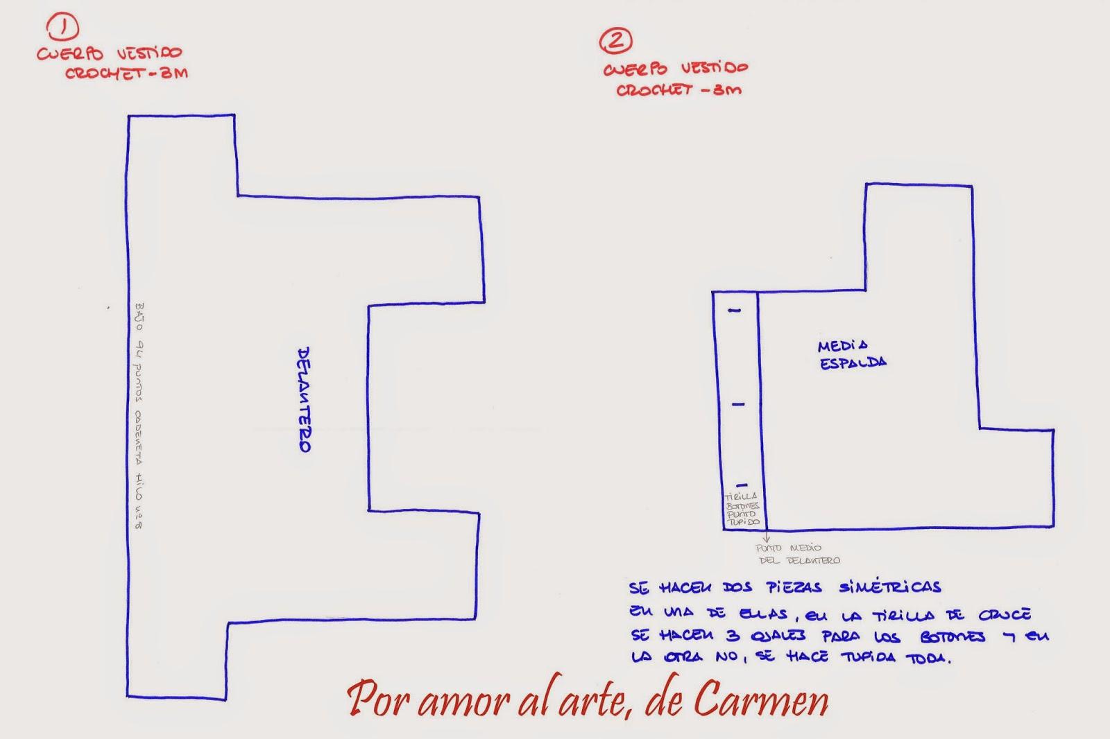 Por amor al arte, de Carmen: Vestido con cuerpo de crochet
