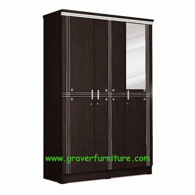 Lemari Pakaian 3 Pintu LP 8898 Popular Furniture