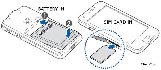 Samsung Galaxy Beam GT I8530 Assemble Battery Install SIM Slot Card