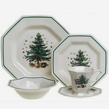 Nikko Christmastime A classic Holiday pattern with a traditional Victorian period Christmas Tree in the center and a unique octagon shape.  sc 1 st  Dr. Dinnerware - Blogger & Dr. Dinnerware: Nikko Christmastime and Happy Holidays Retired